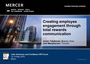 Creating employee engagement through total rewards communication