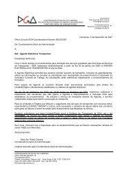 Ofício Circular DGA/Coordenadoria nº 033/2007 - Diretoria Geral da ...