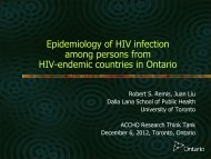 Epidemiology of HIV infection among persons from HIV-endemic ...