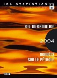 OIL INFORMATION DONNÉES SUR LE PÉTROLE - CMI