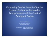 Michael Seibert, Comparing Benthic Impact of Anchor Systems for ...