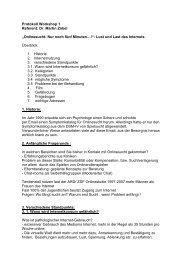 Protokoll Workshop 1