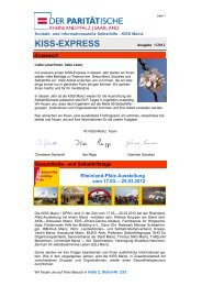 KISS-EXPRESS - Gesunde Städte Netzwerk