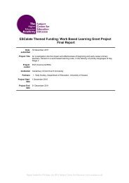 Work Based Learning Grant Project Final Report 2011 - University of ...