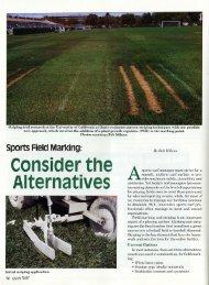 Sports Field Marking: Consider the Alternatives