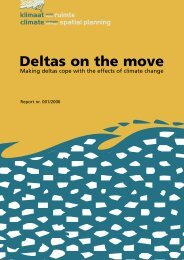 Deltas on the move; Making deltas cope with the effects of climate c