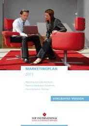 MARKETINGPLAN 2011 - TOP INTERNATIONAL Hotels