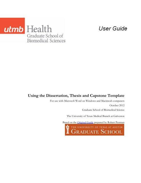 utmb gsbs dissertation