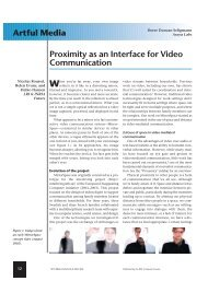 Artful Media Proximity as an Interface for Video Communication - LRI