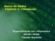 Banco de Dados Capítulo 1: Introdução