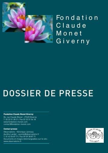 DOSSIER DE PRESSE - Observatoire