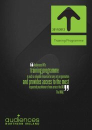 download the Training Programme. - Audiences NI