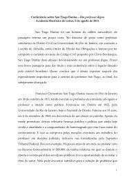 Conferência sobre San Tiago Dantas - Academia Brasileira de Letras