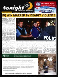 PQ WIN MARRED BY DEADLY VIOLENCE - tonight Newspaper