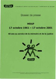 voir le document - Archives du MRAP