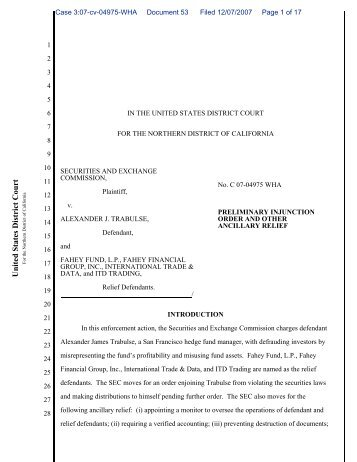 Preliminary Injunction Order - The Grassmueck Group