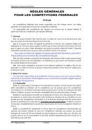 Règles générales - Fédération Française des Échecs