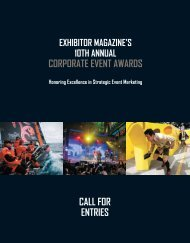 enter now - Exhibitor Magazine