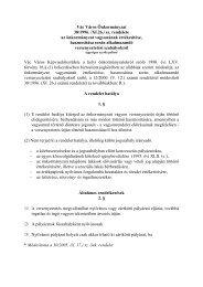 Vác Város Önkormányzat 38/1996. /XI.26./ sz. rendelete az ...