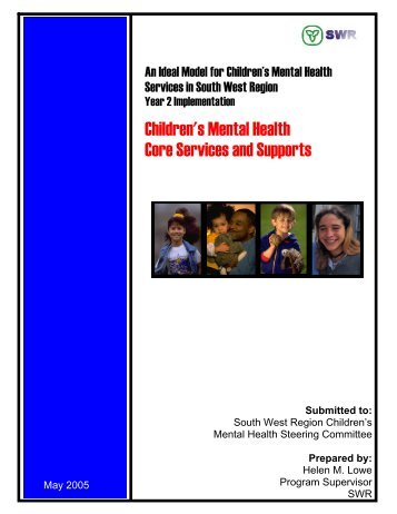 6 definition: children's mental health core services and supports