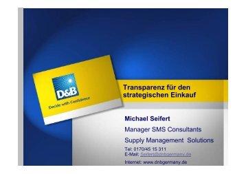 Executive Presentation DPWN V.1.0 - DnB Germany GmbH