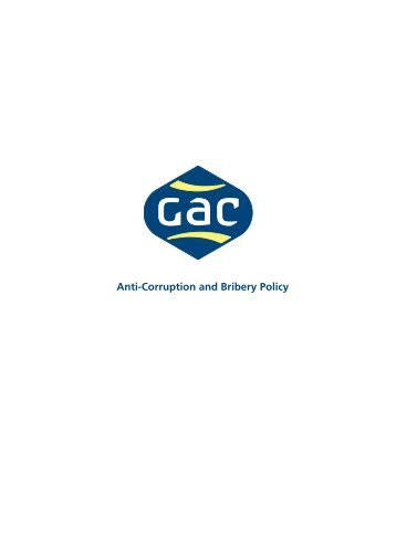 View our Anti-Corruption and Bribery Policy - GAC