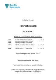 Teknisk utvalg 20.06.12.pdf - Bamble kommune