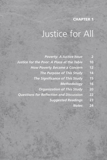 Justice for All - Pastoral Planning