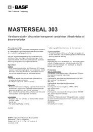 Masterseal 303.qxp - BASF Construction Chemicals
