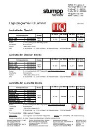 Lagerprogramm HQ Laminat