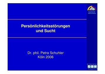 Dr. Petra Schuhler: Psychoedukation bei Sucht