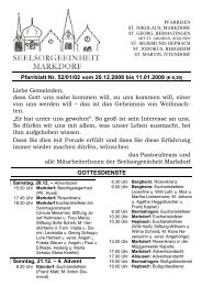 Pfarrblatt Nr. 52/01/02 vom 20.12.2008 bis 11.01.2009 (€ 0,30 ...