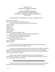 MINUTES OF THE MEETING OF THE BOARD OF ... - NYCEDC