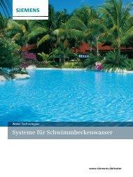Systeme für Schwimmbeckenwasser - Siemens