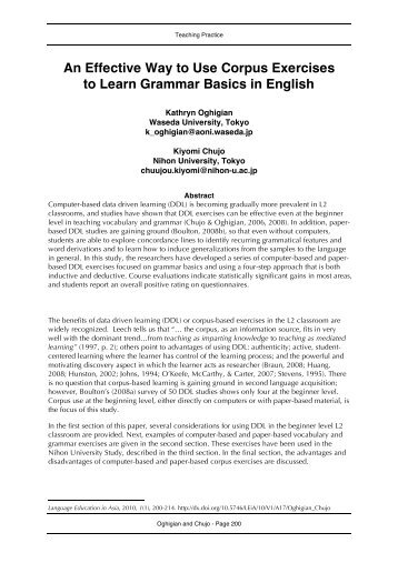 An Effective Way to Use Corpus Exercises to Learn ... - CamTESOL