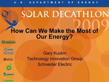 How Can We Make the Most of Our Energy - Solar Decathlon