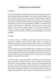CONDIÇÕES GERAIS DE FORNECIMENTO 1. OBJETIVO ... - Henkel