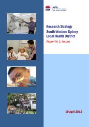 Issues Paper - South Western Sydney Local Health District - NSW ...
