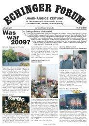 Was war 2009? - Echinger Forum