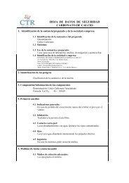 Carbonato de Calcio MSDS - CTR Scientific