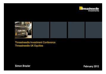 UK Equities Team - Threadneedle Investments