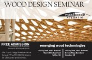 WOOD DESIGN SEMINAR - Fundy Model Forest