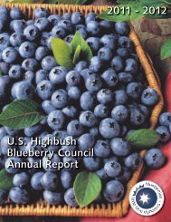 Annual Report - North American Blueberry Council
