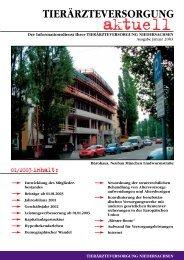 Download Ausgabe 01/2003 - Tierärzteversorgung Niedersachsen