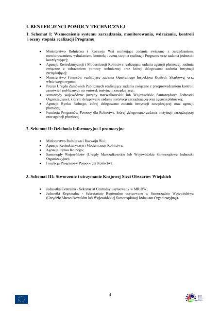 wytyczne ministerstwa rolnictwa i rozwoju wsi dla agencji ... - KSOW