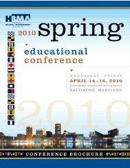 2010 spring W E D N E S D AY F R I D - HBMA