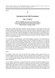 Salvation in the Old Testament - Online Christian Library