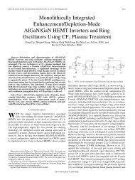 Monolithically Integrated Enhancement/Depletion-Mode AlGaN/GaN ...