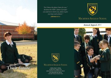 Their future - Macarthur Anglican School