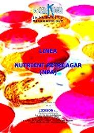 LINEA NUTRIENT PETRI AGAR (NPA) - Lickson